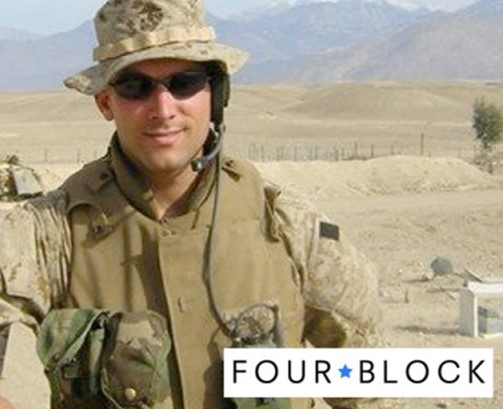 MICHAEL ABRAMS:  FOUR BLOCK supports veterans transitioning