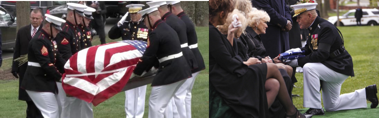 VIDEO:  The funeral of Marine Corps legend & Medal of Honor recipient Col Wesley Fox, USMC