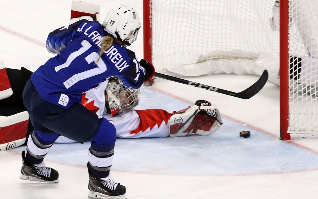 OLYMPIC GOLD MEDALIST JOCELYNE LAMOUREUX-DAVIDSON:  the twenty-year road to an overtime shootout winner in a Gold Medal Game