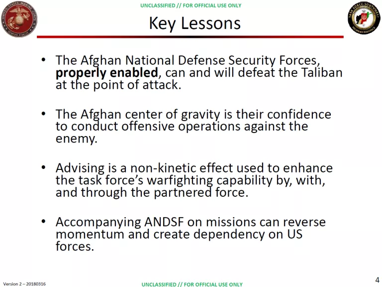 """PROPERLY"" ENABLING AFGHAN SECURITY FORCES:  BGen Roger Turner, USMC with Michael O'Hanlon of the Brookings Institute"