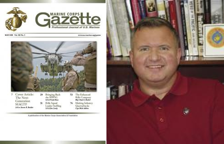 MARINE CORPS GAZETTE MAY EDITION & IOC STANDARDS: Chris Woodbridge