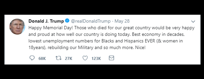 "NEWS HEADLINES:  Did the President really tweet ""Happy Memorial Day""?"
