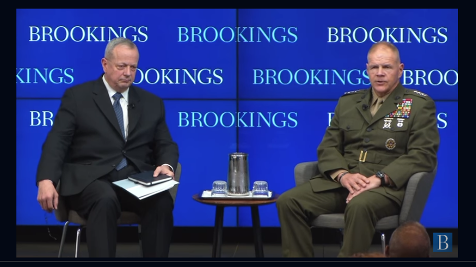 "BROOKINGS INSTITUTE:  Gen John Allen interviews Gen Bob Neller on ""the future"""