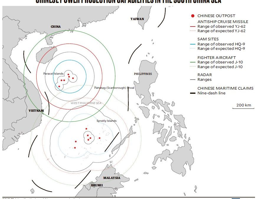 ASIA TIME:  China 'crosses threshold' with missiles at South China Sea outposts