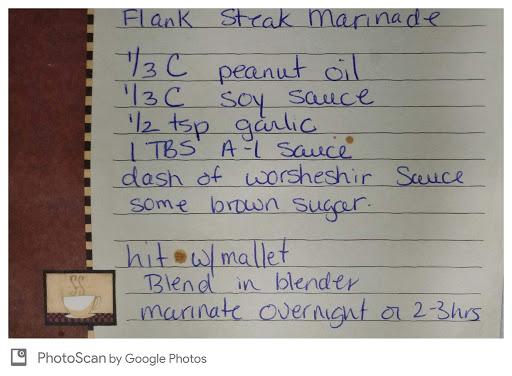 Kathleen's Flank Steak Marinade