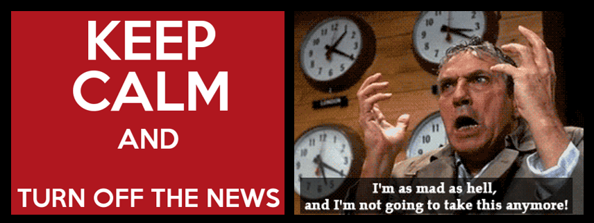 NEWS HEADLINES:  watching too much news is unhealthy for veterans