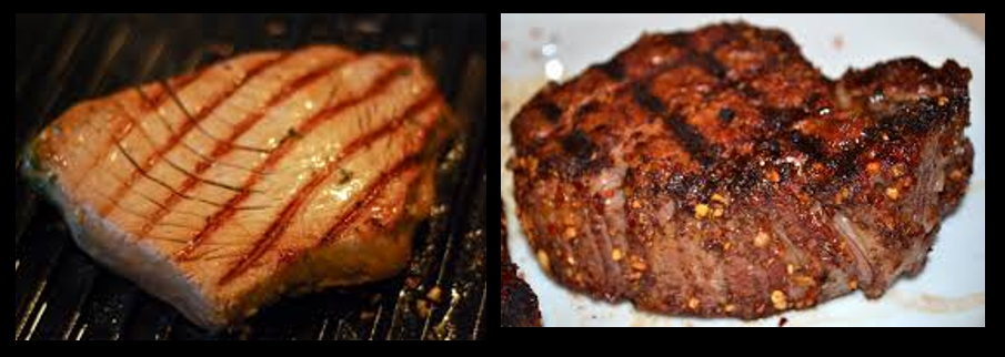 THE CHEF:  my favorites cuts of fish, beef & roasts to grill