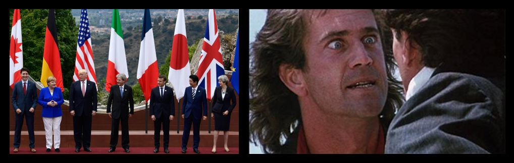 "NEWS HEADLINES:   ""Free Trade"" is a crock & Mel Gibson in ""Lethal Weapon"" with PTSD"