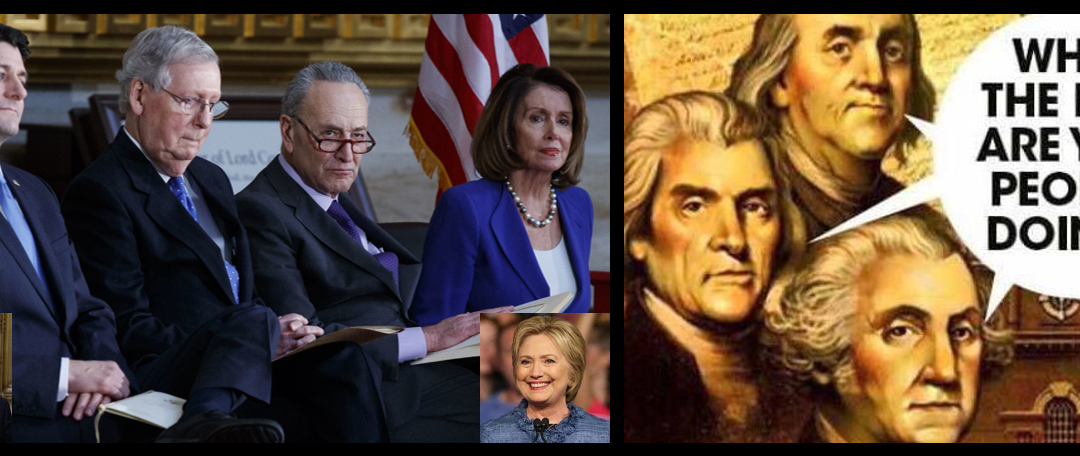 NEWS & COMMENTARY:  do the Russians even need to contribute to the destruction of the American democracy?  The Dems & Reps are doing an incredible job on their own