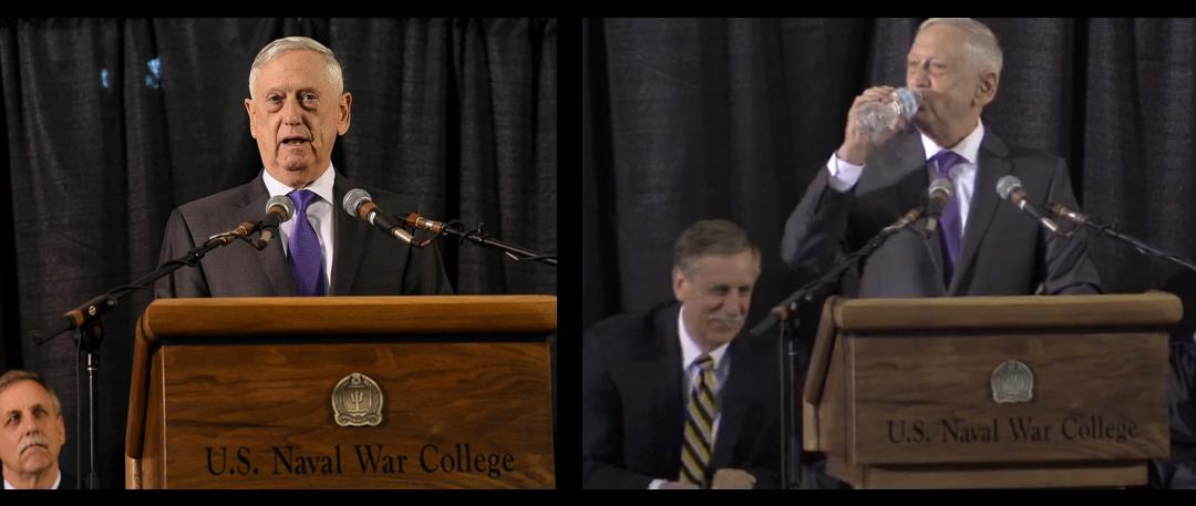 SECDEF MATTIS CAN BE HILARIOUS:  US Naval War College Commencement, June 15, 2018 (audio & video)