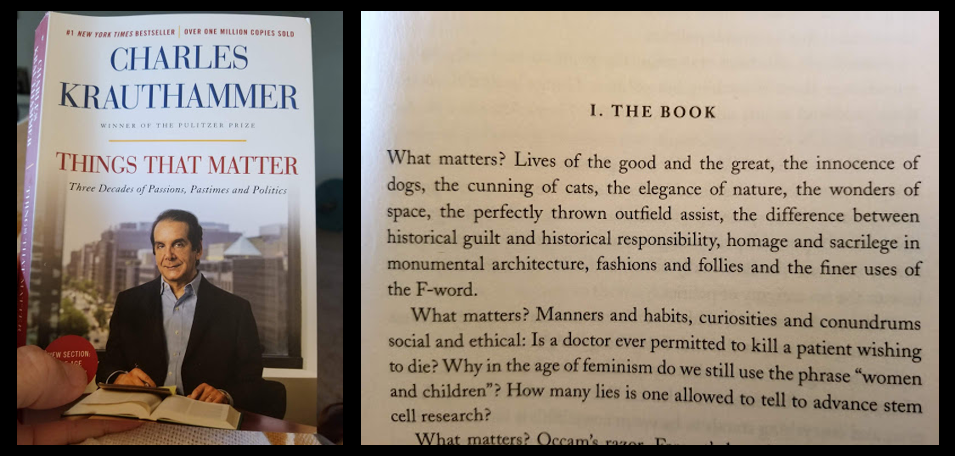 NEWS & COMMENTARY:  ALL MARINE RADIO is going mobile!  Charles Krauthammer's book hooked me in the first paragraph!