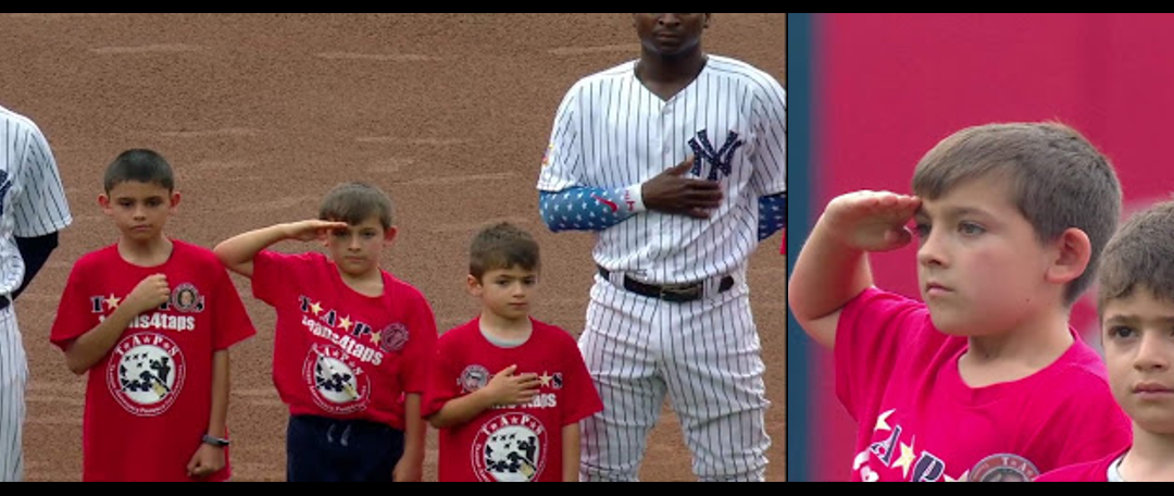 TAPS at Yankee Stadium:  a 4th of July Salute from a Gold Star Son!  AWESOME