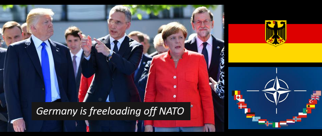 TRUMP SHOULD SLAM GERMANY'S COMMITMENT TO NATO,  IT'S A JOKE!