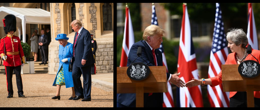 NEWS & COMMENTARY:  President Trump spins Great Britain