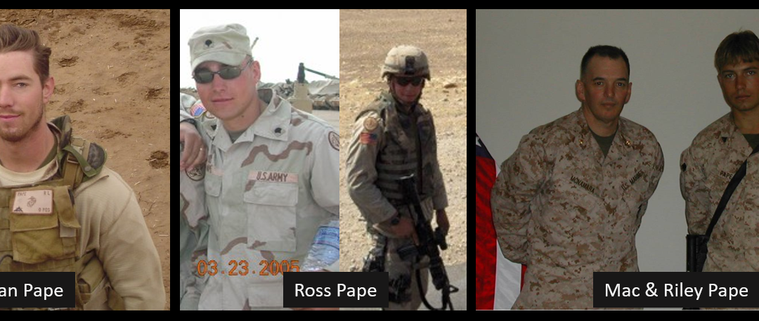 ALCOHOL, PTSD & THE LOSS OF TWO BROTHERS ON ACTIVE DUTY:  Ross Pape, SGT US Army, Iraq War