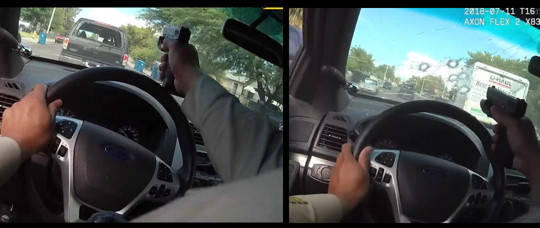 MIKE & MIKE:  Las Vegas body-cam video of a police pursuit is WILD.  How effective is hollow-tip ammunition after it travels through a windshield?