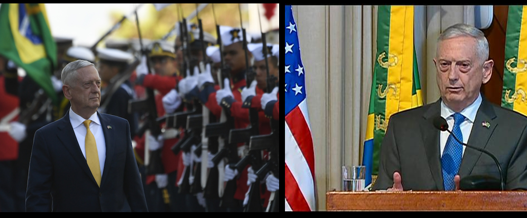 """SECRETARY MATTIS IN BRAZIL:  (1) why create a """"Space Force""""? and (2)  thoughts on the militarization of Space"""