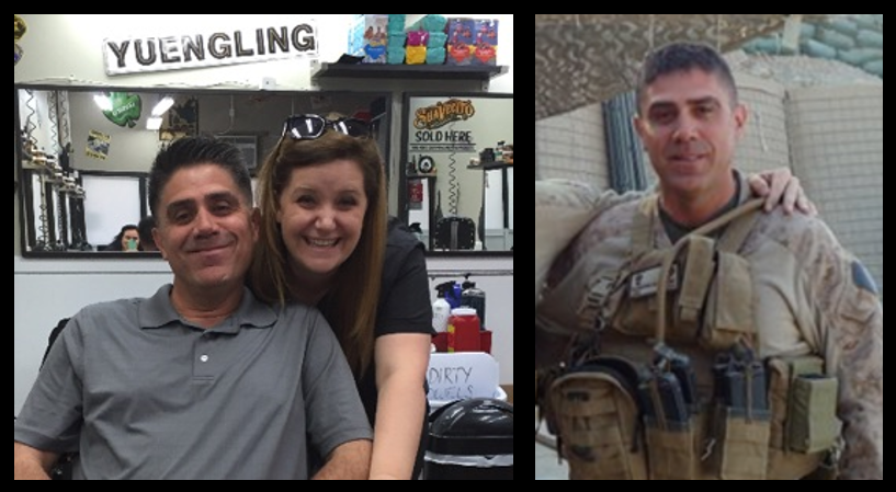 MIKE & MIKE:  the Gunner's lifelong barber (Heather) joins the program!