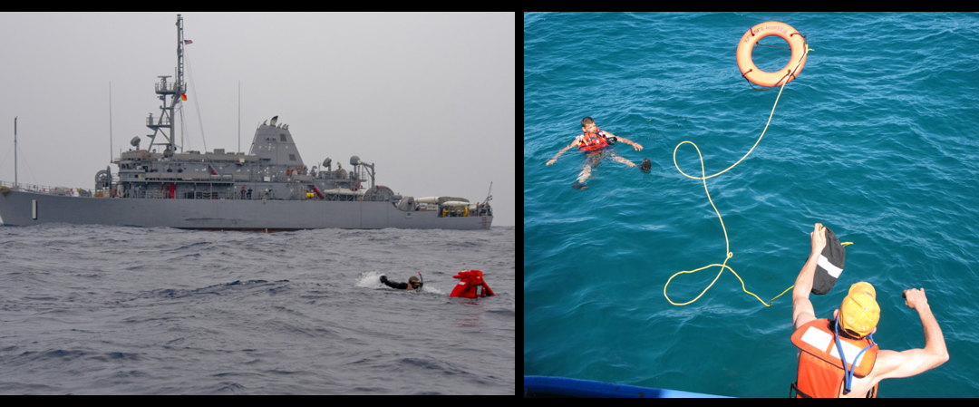 MIKE & MIKE:  how does someone fall overboard on a US warship?