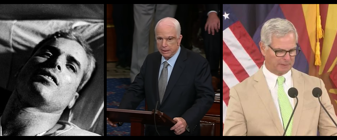 NEWS & COMMENTARY:  US Navy Captain John McCain's first public words, his last public speech & his final letter to the American people
