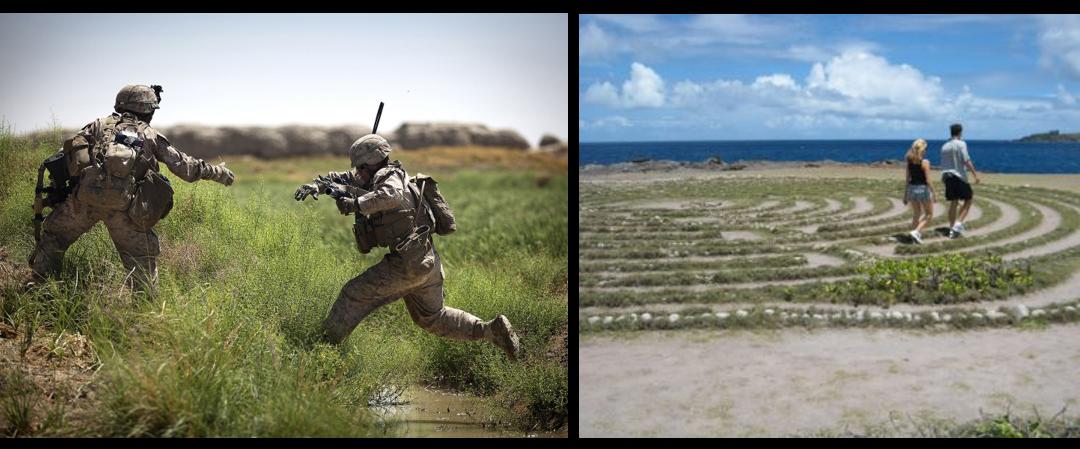 MIKE & MIKE:  PTSD wellness practice — veterans easing the traumatic pain of civilians & Gunner just did it AGAIN