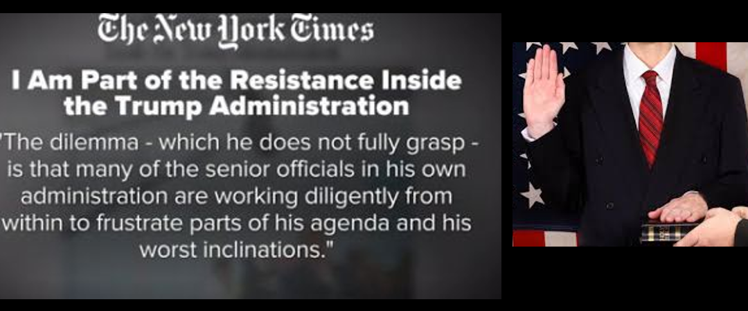 NEWS & COMMENTARY:  New York Times Op-Ed or live up to your Oath of Office?  Hmmmmmmmm