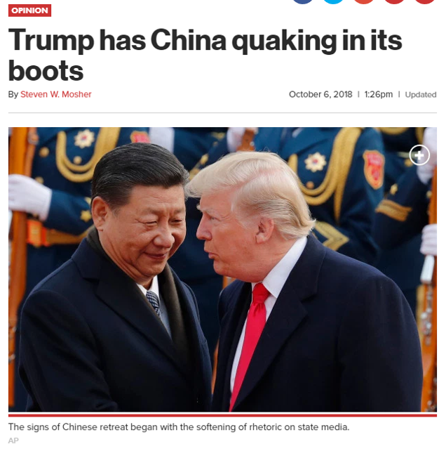 INTERESTING READ:  Trump has China Quaking in its Boots
