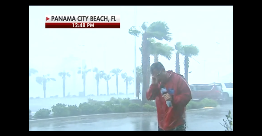 NEWS & COMMENTARY:  Death defying weather reporters in Florida — WTF is wrong with TV Networks?