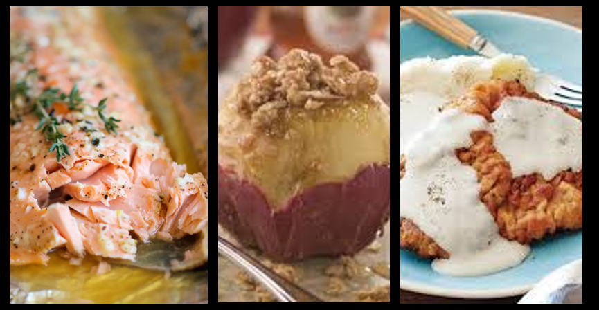 HONEY GLAZED SALMON, STUFFED APPLES & CHICKEN FRIED STEAK:  AMR Chef Kim Holmes