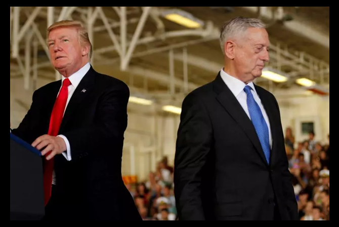 A MAN WITHOUT A PARTY:  TRUMP CALLS DEFENSE SECRETARY JAMES MATTIS 'KIND OF A DEMOCRAT' IN HINT OF DEPARTURE — Alex Hollings