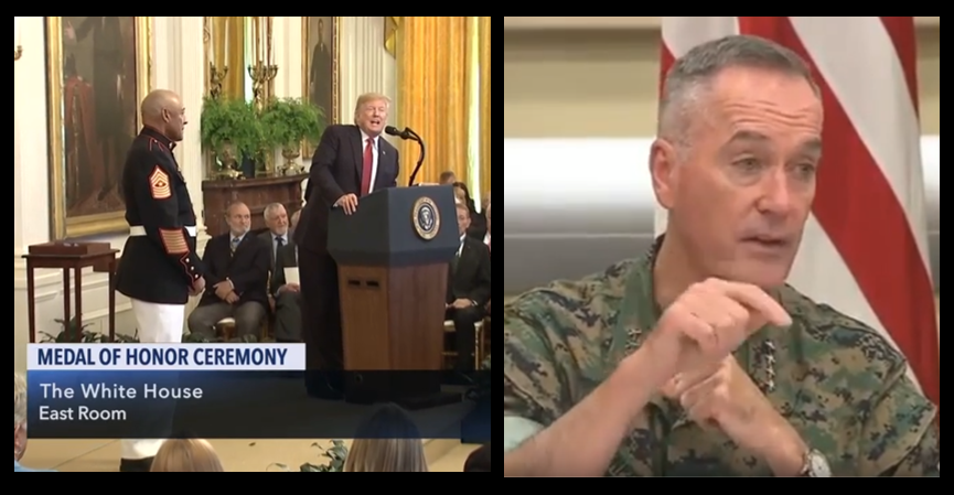 DONT MISS:  Medal of Honor Ceremony of SgtMaj John  & General Joe Dunford's Press Conference on the Middle East