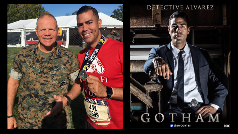 "MARINE CORPS MARATHON:  Marine turned actor JW Cortes, co-star of Fox's hit prime-time series ""Gotham"" talks Semper Fi Fund"