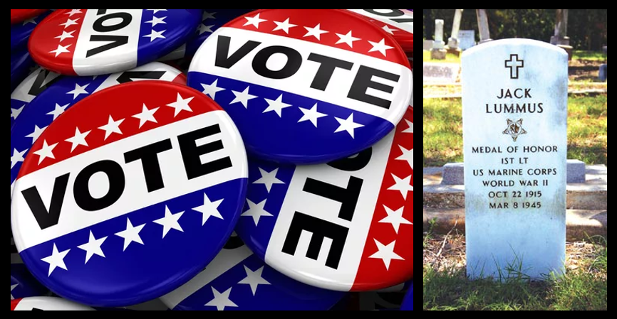 NEWS & COMMENTARY:  Election Day is Memorial Day in disguise & voting is your DUTY as an American citizen