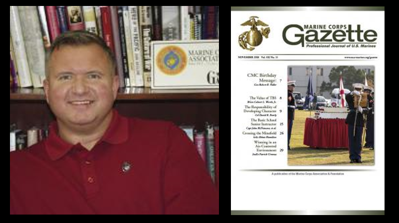 MARINE CORPS GAZETTE HOUR:  Chris Woodbridge talks the November 2018 edition