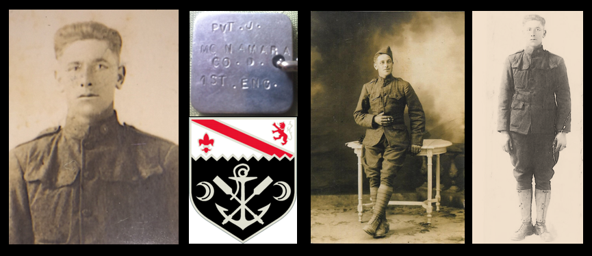 NEWS & COMMENTARY:  CPL John McNamara, US Army, 1st Engineer Bn, AEF, World War I, Purple Heart x2, my Grandfather