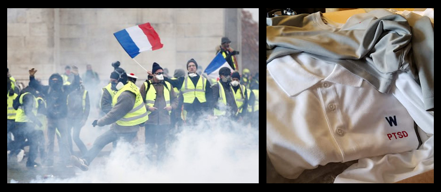 NEWS & COMMENTARY:  the undeniable and disturbing events occuring in France & AMR gets in the apparel business