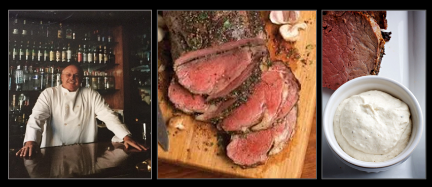 THE CHEF SEZ:  Prime Rib is a great Christmas Dinner!  And don't forget the special sauce!