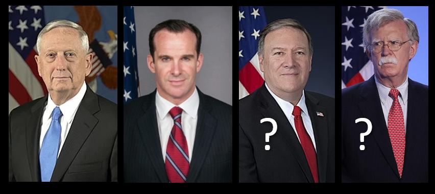OPINION:  Secretary Pompeo & NSA Bolten should follow Secretary Mattis and Ambassador McGurk — RESIGN