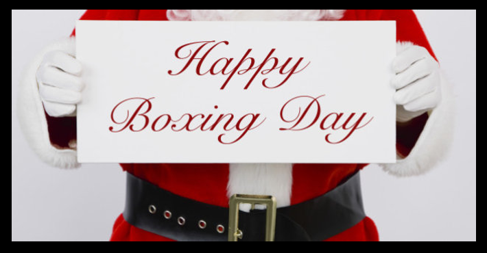 HOLIDAY NEWS & COMMENTARY:   Happy Boxing Day!