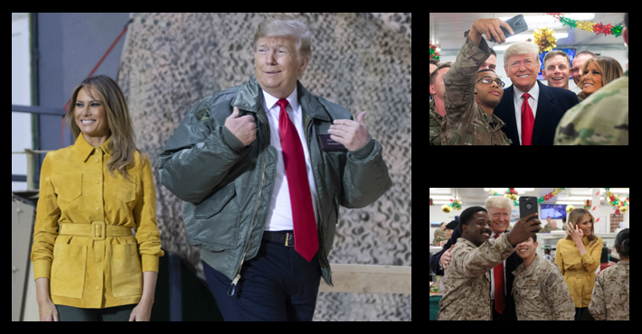 NEWS & COMMENTARY:  President Trump and the First Lady visit deployed units in Al Anbar (Iraq) & Germany