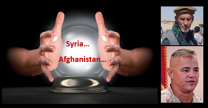 WE GET THE ALL MARINE RADIO CRYSTAL BALL OUT ON SYRIA & AFGHANISTAN:  former USMC grunts Tim Lynch & Jeff Kenney