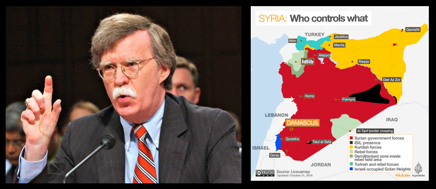 NEWS & COMMENTARY:  after John Bolton's remarks, are we leaving Syria?