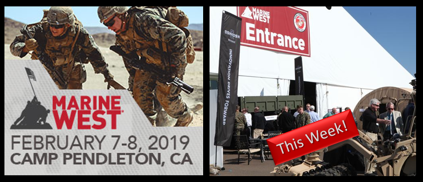 MARINE WEST EXPO:  Starts this week at Camp Pendleton — Alex Heatherington