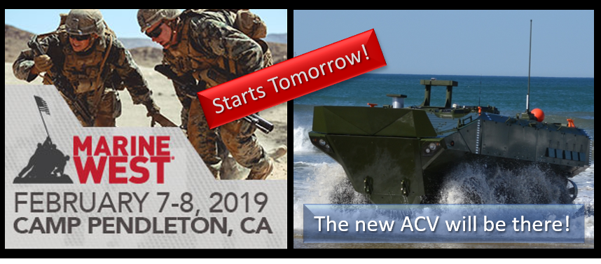 MARINE WEST EXPO 2019:  the new Amphibious Combat Vehicle will be there – Alex Heatherington