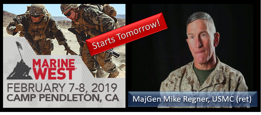 MAJGEN MIKE REGNER, USMC: come to the Marine West Expo