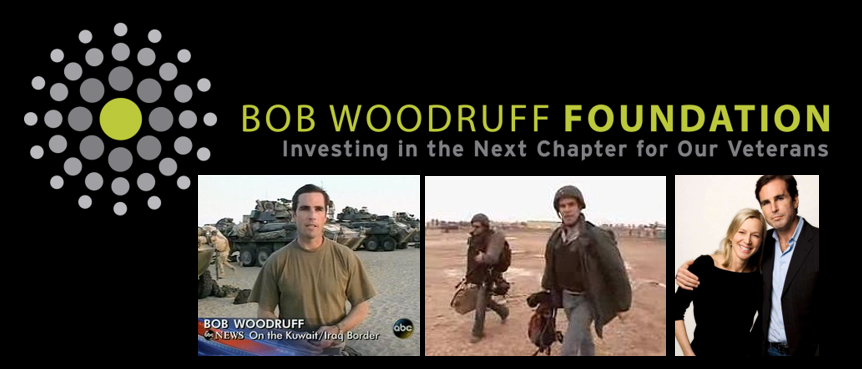BOB WOODRUFF:  from the ABC News to a near deadly head wound in Iraq to a Foundation that helps veterans and caregivers heal