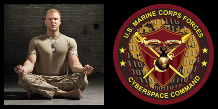 MEDITATION FOR MARINES & HOW CYBER OPS EXPLAINED (FINALLY):  Capt Kris Drake, USMC