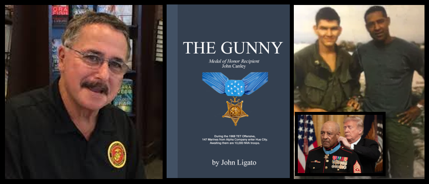 THE GUNNEY:  John Ligato discusses his book about his Company GySgt at Hue City in 1968:  SgtMaj John Canley, USMC (ret)