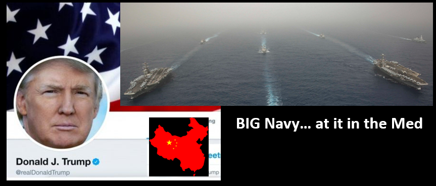 NEWS & COMMENTARY:  tough economic talk on China & a two carrier battle groups in the Med!