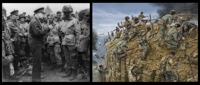 NORMANDY:  what Americans heard it as they woke on June 6, 1944 — & — SSgt Harris Holman, a Ranger at Pointe du Hoc